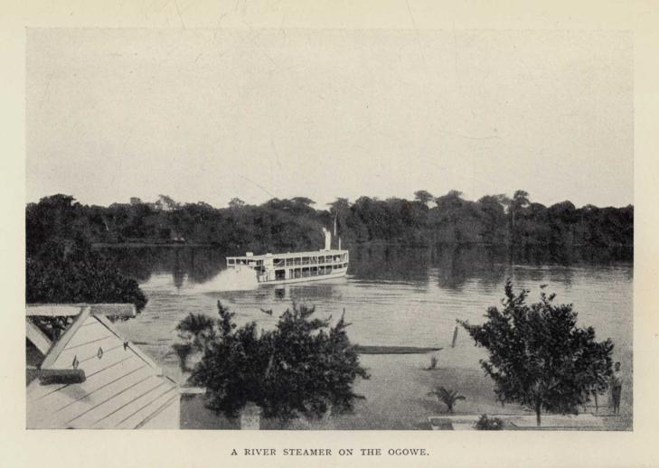 A RIVER STEAMER ON THE OGOWE.