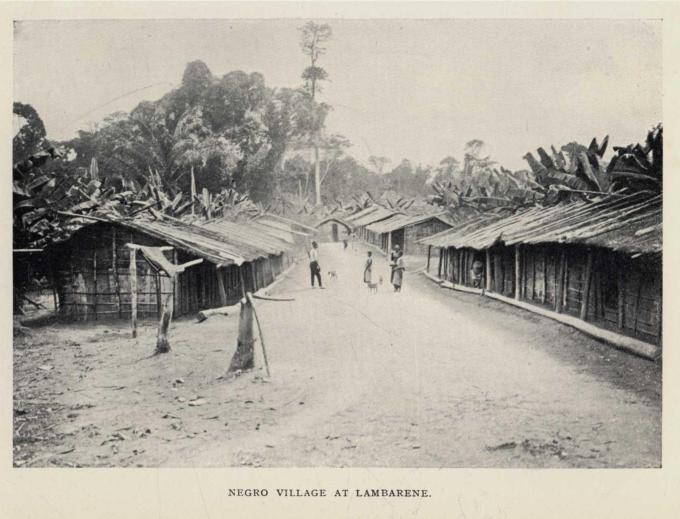 NEGRO VILLAGE AT LAMBARENE.