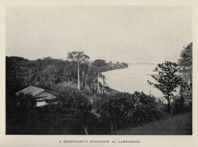 A MISSIONARY'S BUNGALOW AT LAMBARENE.