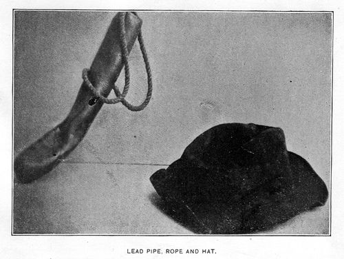 Lead pipe, rope and hat