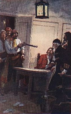 """""""pierre le grand commanding the spanish captain to surrender the ship""""—Page 36"""
