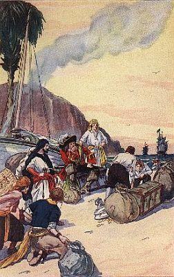 """""""morgan dividing the treasure taken at maracaibo""""—Page 166"""