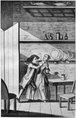 MATTHEW CLARK CUTTING THE THROAT OF SARAH GOLDINGTON—(<i>From the Annals of Newgate</i>)