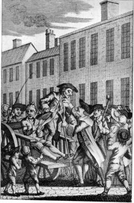 THE HANGMAN ARRESTED WHEN ATTENDING JOHN MEFF TO TYBURN