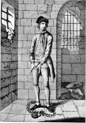 JACK SHEPPARD IN THE STONE ROOM IN NEWGATE