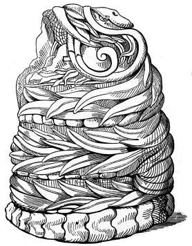 AZTEC SERPENT FIGURE.