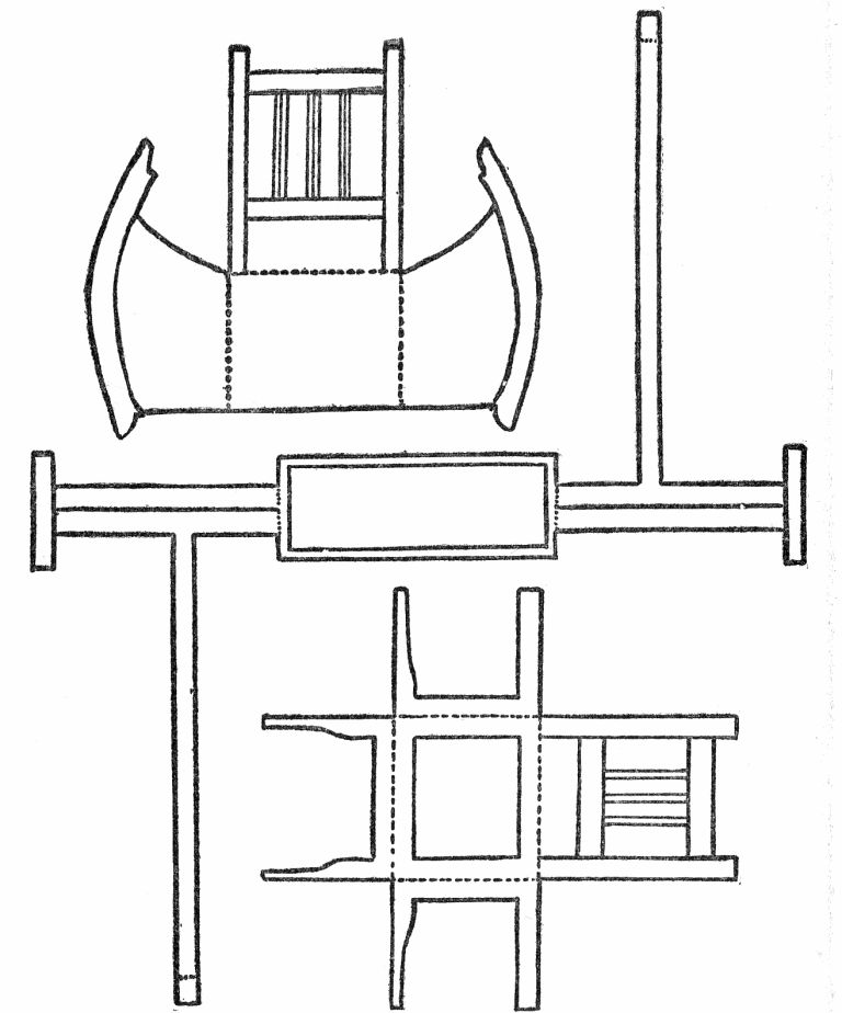Rocking-Chair, Towel Rack, and Chair