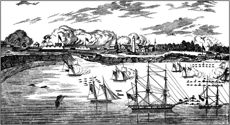 The taking of Fort George.