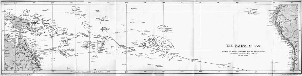 Map of the voyage
