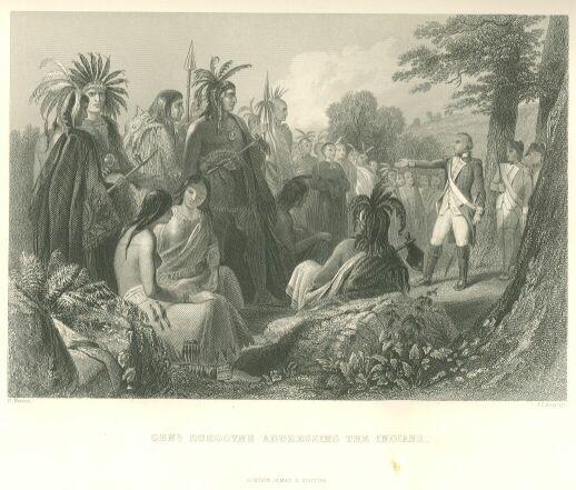 109.jpg General Burgoyne Addressing the Indians