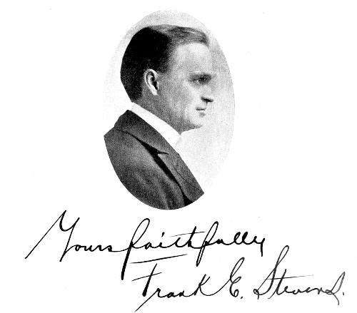 Yours faithfully Frank E. Stevens