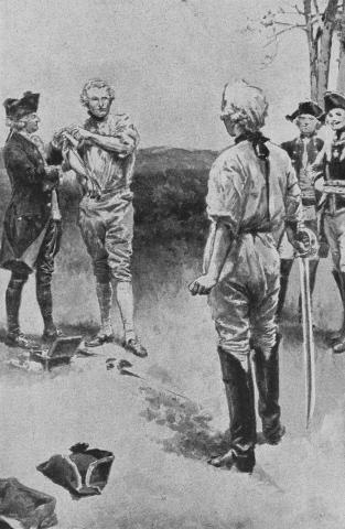 Lord Sackville stood without speaking, while the surgeon bandaged up his arm