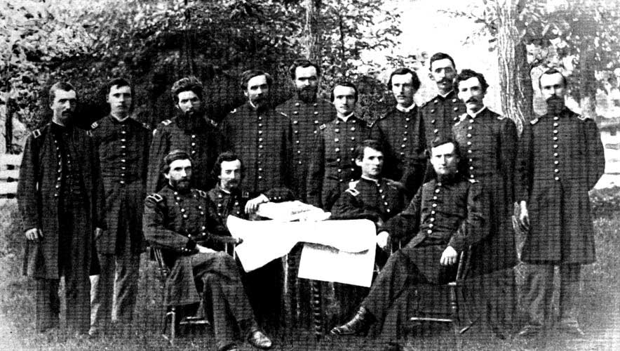 BRIGADIER-GENERAL G. M. DODGE AND STAFF AT CORINTH, MISS.