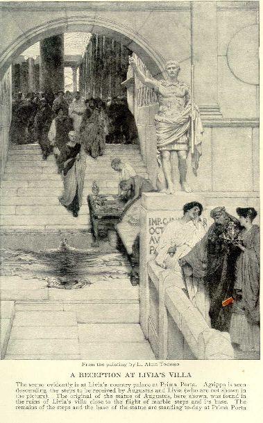 A reception at Livia's villa.