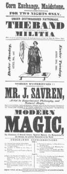 Poster used by James Savren. From the Harry Houdini Collection.