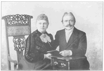 Last photograph of Herr and Frau Frikell, taken especially for this work. Frikell died Oct. 8th, 1903, the day after this photograph was taken. From the Harry Houdini Collection.