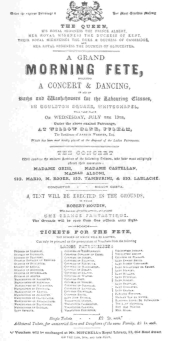 A very rare, and possibly the only, programme in existence, chronicling Robert-Houdin's first appearance before Queen Victoria, July 19th, 1848. The original, now in the Harry Houdini Collection, was presented to James Savren by Robert-Houdin.