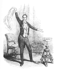 Robert-Houdin as he appeared to the English critics. Reproduced from the Illustrated London News, December 23d, 1848.