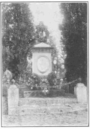 Robert-Houdin's grave, in the cemetery at Blois, France. From a photograph taken by the author, especially for this work, and now in the Harry Houdini Collection.