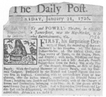 A clipping from the Daily Post, London showing that Fawkes combined forces with Powel, the famous Bartholomew Fair puppet man. From the Harry Houdini Collection.