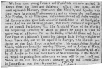 Clipping from the London Post, showing that young Fawkes collaborated with Pinchbeck and together they offered the orange-tree trick in 1732. From the Harry Houdini Collection.