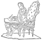 Writing and drawing figure claimed by Robert-Houdin as his invention. From Manning's Robert-Houdin brochure.