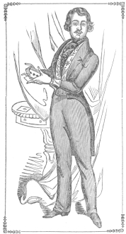 Frontispiece from Eagle's book, in which he exposes Anderson's gun delusion. Said by Henry Evanion, who knew Eagle, to be a fine likeness. From the Harry Houdini Collection.