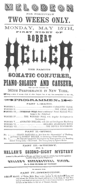 Poster used by Robert Heller during his Boston engagement in 1853. From the Harry Houdini Collection.