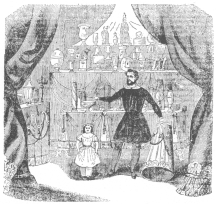 """Alexander Heimburger, known in conjuring as Alexander the Conjurer, from a quaint illustration in """"The North American,"""" published in Mexico."""