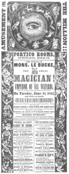 Reproduction of a rare Buck handbill, dated 1844. From the Harry Houdini Collection.