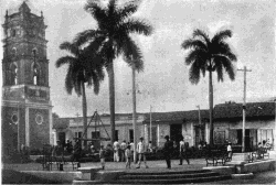 Agramonte Plaza, Puerto Principe, Cuba. Photograph by V. K. Van de Venter, Jan. 28, 1900.