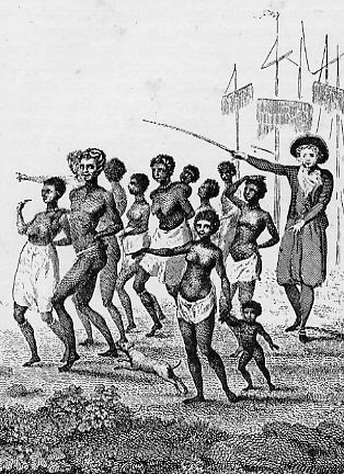 SLAVES LANDING FROM THE SHIP.