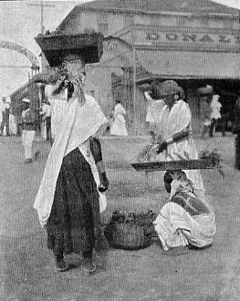 COOLIE VEGETABLE SELLERS, BRITISH GUIANA.
