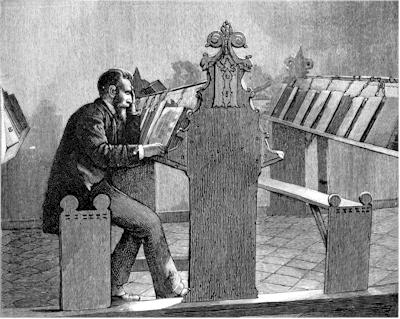 Fig. 3. Desk in the library at Zutphen: from a photograph.