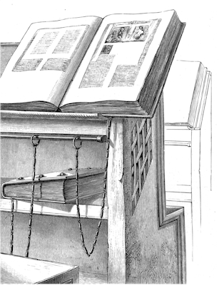 Fig. 7. Part of a single bookcase in the Library, Cesena.