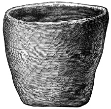 Fig. 52.—Urn of Steatitic Stone from Cist No. 1, at Orem's Fancy, Stronsay (17 inches high).