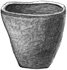 Fig. 53.—Large Steatite Urn, found at Stennis, Orkney (20 inches high).