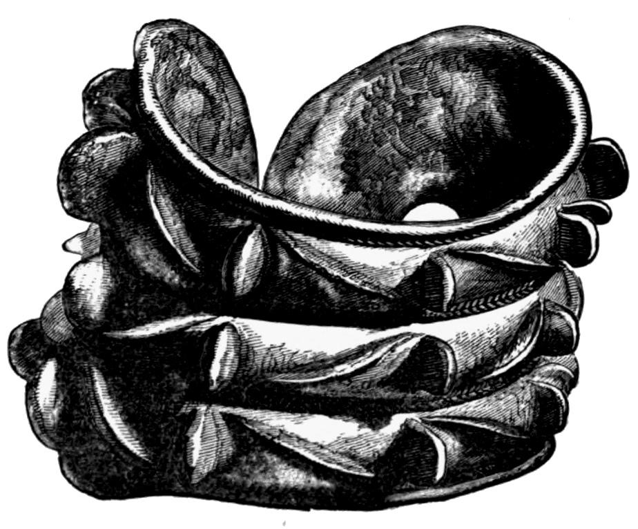 Fig. 119.—Bronze Armlet found at Auchenbadie, Banffshire. Back view (6½ inches in diameter).