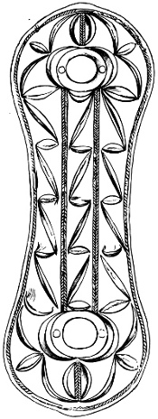 Fig. 120.—Plan of Ornamentation of Bronze Armlet found at Auchenbadie, Banffshire.