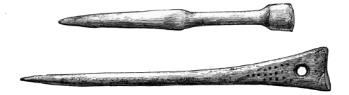 Fig. 226.—Bone Pins from Broch of Burrian (actual size).