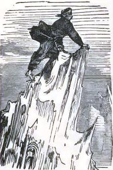 He climbed to the top of an iceberg