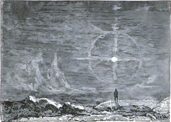 Simple lunar halos
