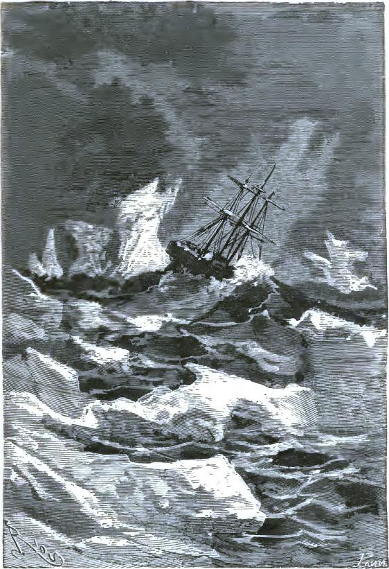 A hard struggle with the icebergs
