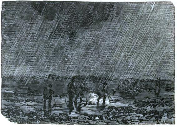 Accompanied with heavy rain