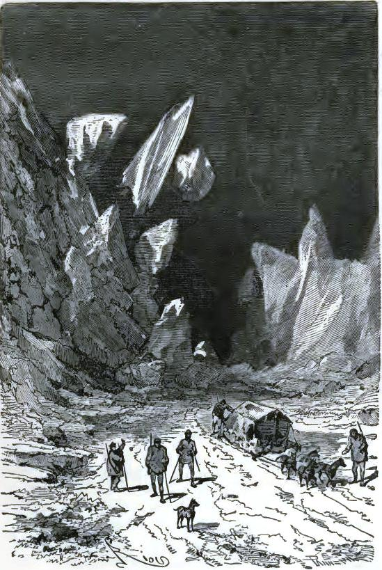 The cracking of the ice