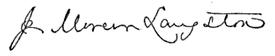 (signature) J. Mercer Langston