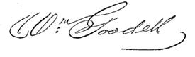 (signature) Wm. Goodell