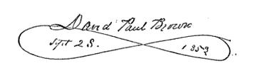 (signature) David Paul Brown Sept. 28, 1859