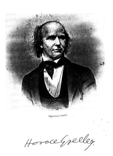 Horace Greeley. (Engraved by J. C. Buttre.)
