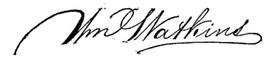 (signature) Wm. Watkins